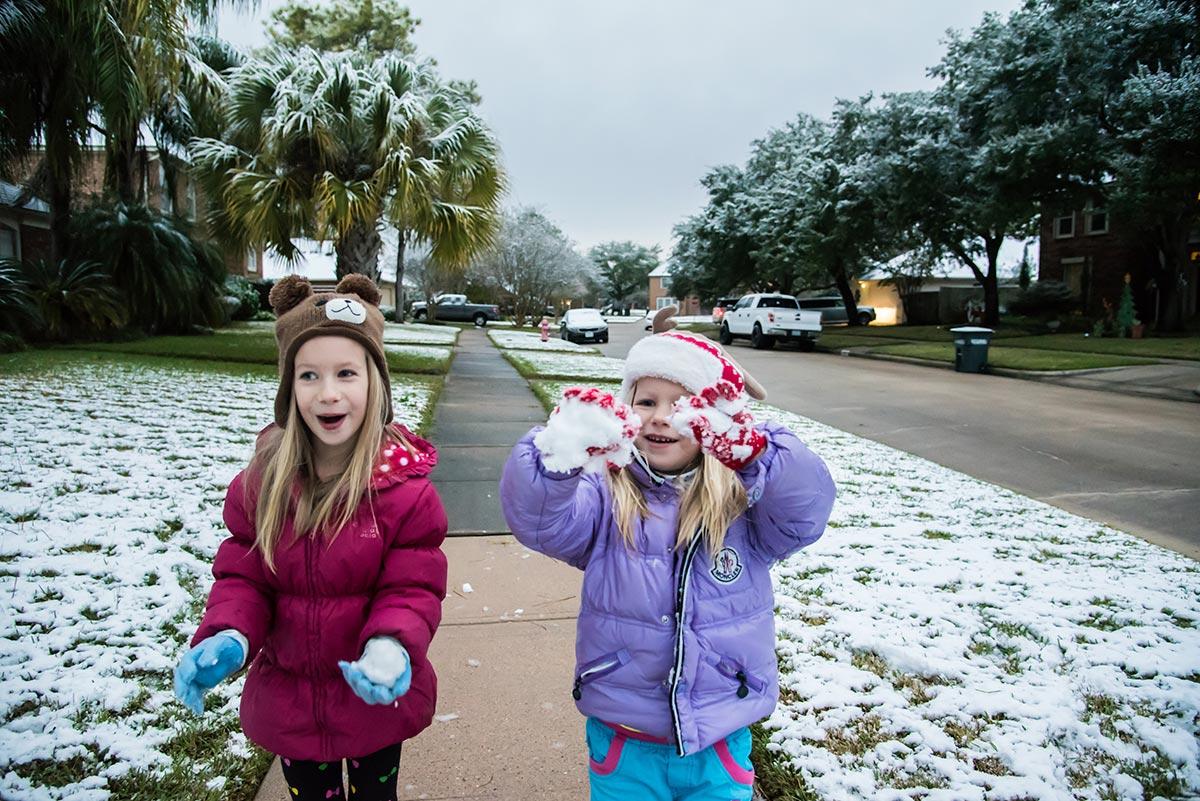 Sníh v Houstonu, Texas, USA, autor: Veronika Vaněčková
