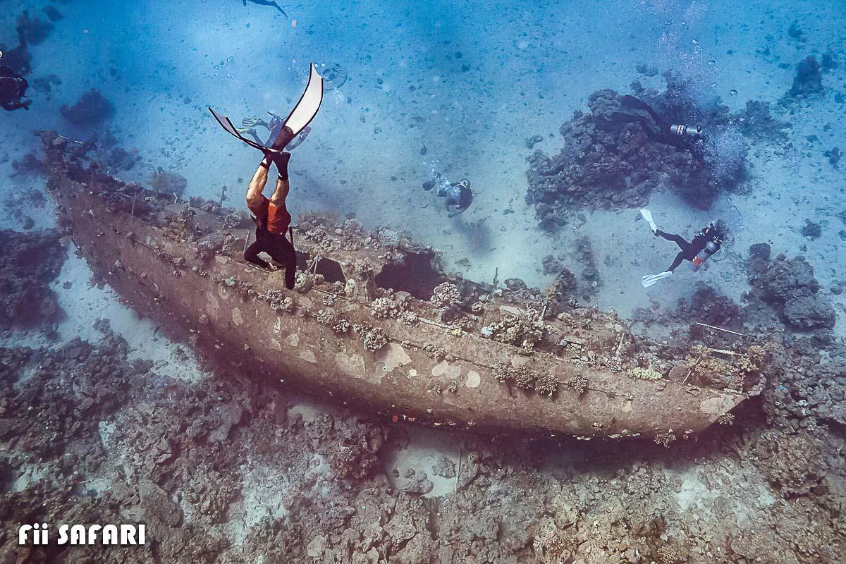 Potápění k vraku lodi, autor: Karel Fiala