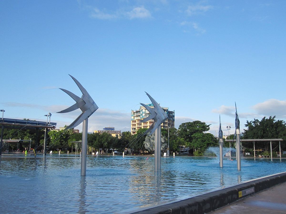 Esplanade Lagoon, Cairns (Queensland, Austrálie), autor: Pavlína a Vráťa Řehola